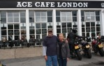 Hanging out at the Ace Cafe in London