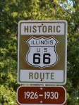 Old 66 highway sign