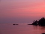 Sunrise on Lake Superior Michigan UP