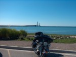 Parked after crossing Mackinaw Bridge